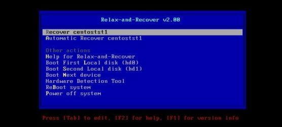 Backup bootable con REAR para clonar un servidor Linux