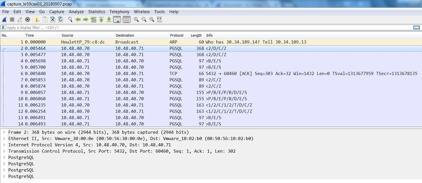 Captura de trafico de red con Wireshark