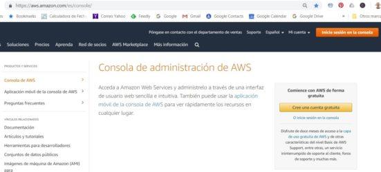 ¿Qué es la consola de administración de Amazon AWS?