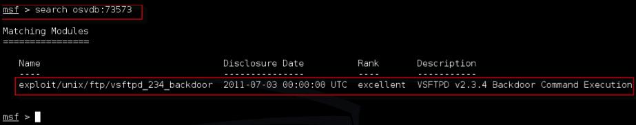 Kali Linux - Exploit a utilizar