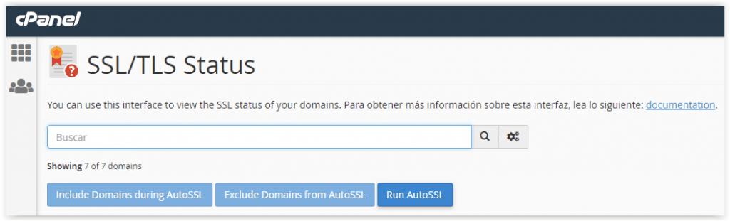 Comprobar el certificado TLS en Sered,net