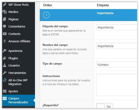 Advanced Custom Fields - Añadir campos personalizados en los artículos de WordPress