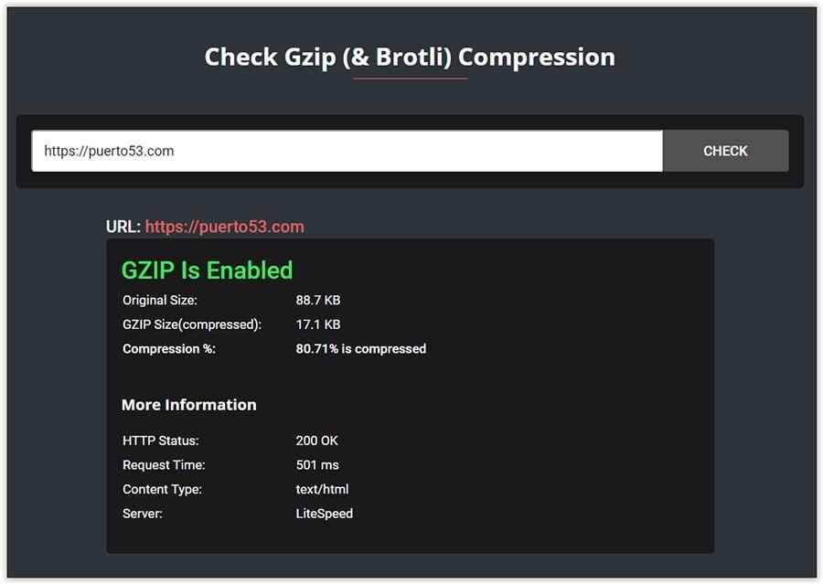 Habilitar GZIP en WordPress