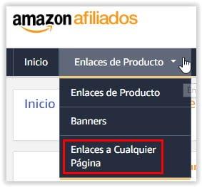 Enlace a cualquier pagina de Amazon con nuestro ID de afiliado