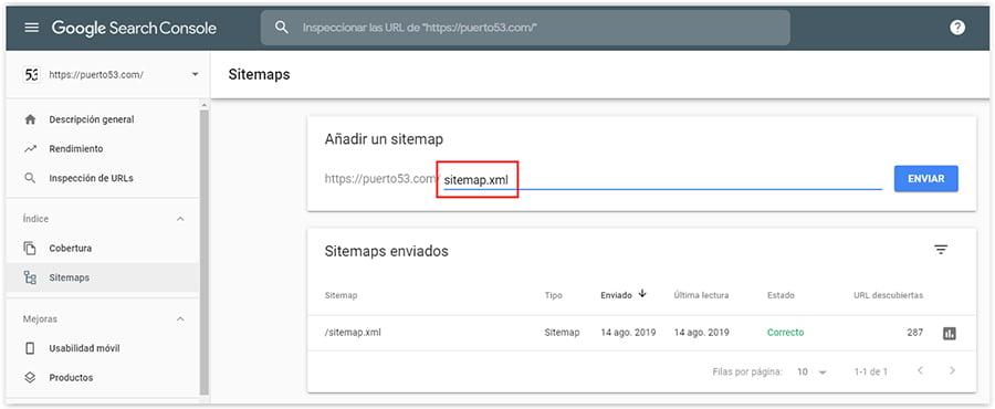 Enviar Sitemap.xml a Google Search Console