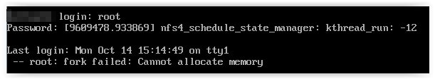 Linux - cannot allocate memory