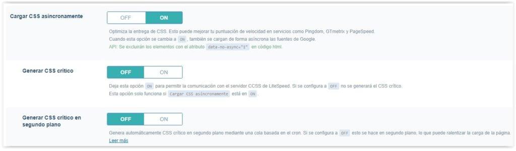 Plguin de WordPress Litespeed cache - Ajustes de optimizacion (parte 3)