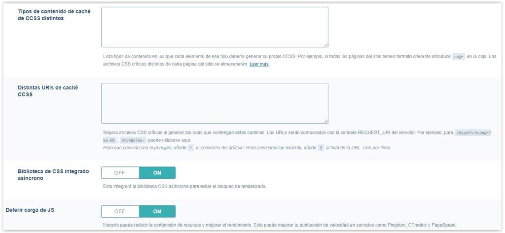 Plguin de WordPress Litespeed cache - Ajustes de optimizacion (parte 4)
