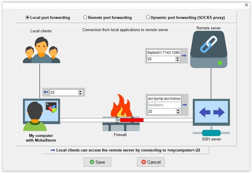Tunel SSH al puerto 22 de un servidor remoto con Moba XTERM