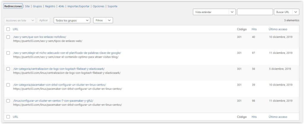 Configurar redirecciones 301 con Redirection en WordPress