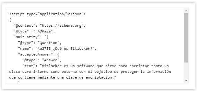 Insertar codigo HTML del Rich Snippet de FAQ en WordPress