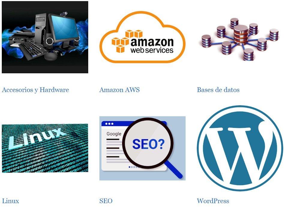 Clusters de WordPress con imagen destacada
