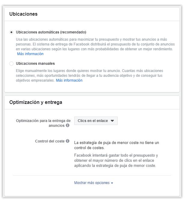 Facebook Ads - Clics en el enlace