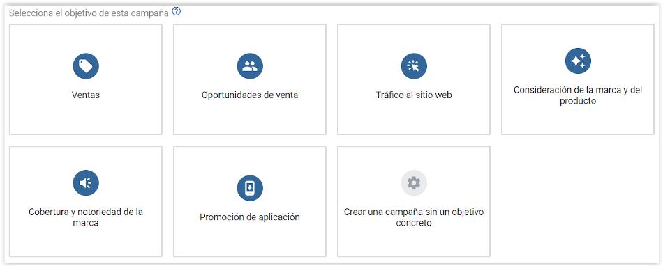 Google Adwords - Tipo de campaña de publicidad