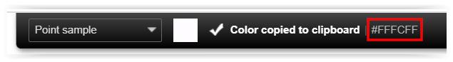ColozrZilla - Color copiado al portapapeles