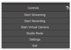 OBS Studio - Comenzar a grabar o a retransmitir el video
