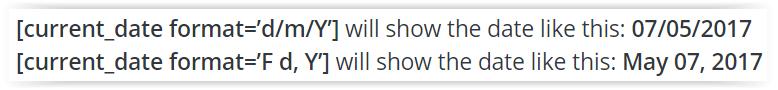 Shortcode de WordPress para automatizar la fecha automaticamente en una entrada o pagina