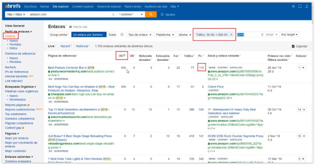 Encontrar nichos para paginas web con ahrefs